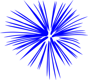 Fireworks clip vector. Blue art at clker