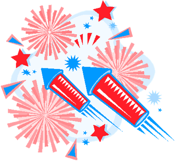 Latest th july wishes. Fireworks clipart vector free download