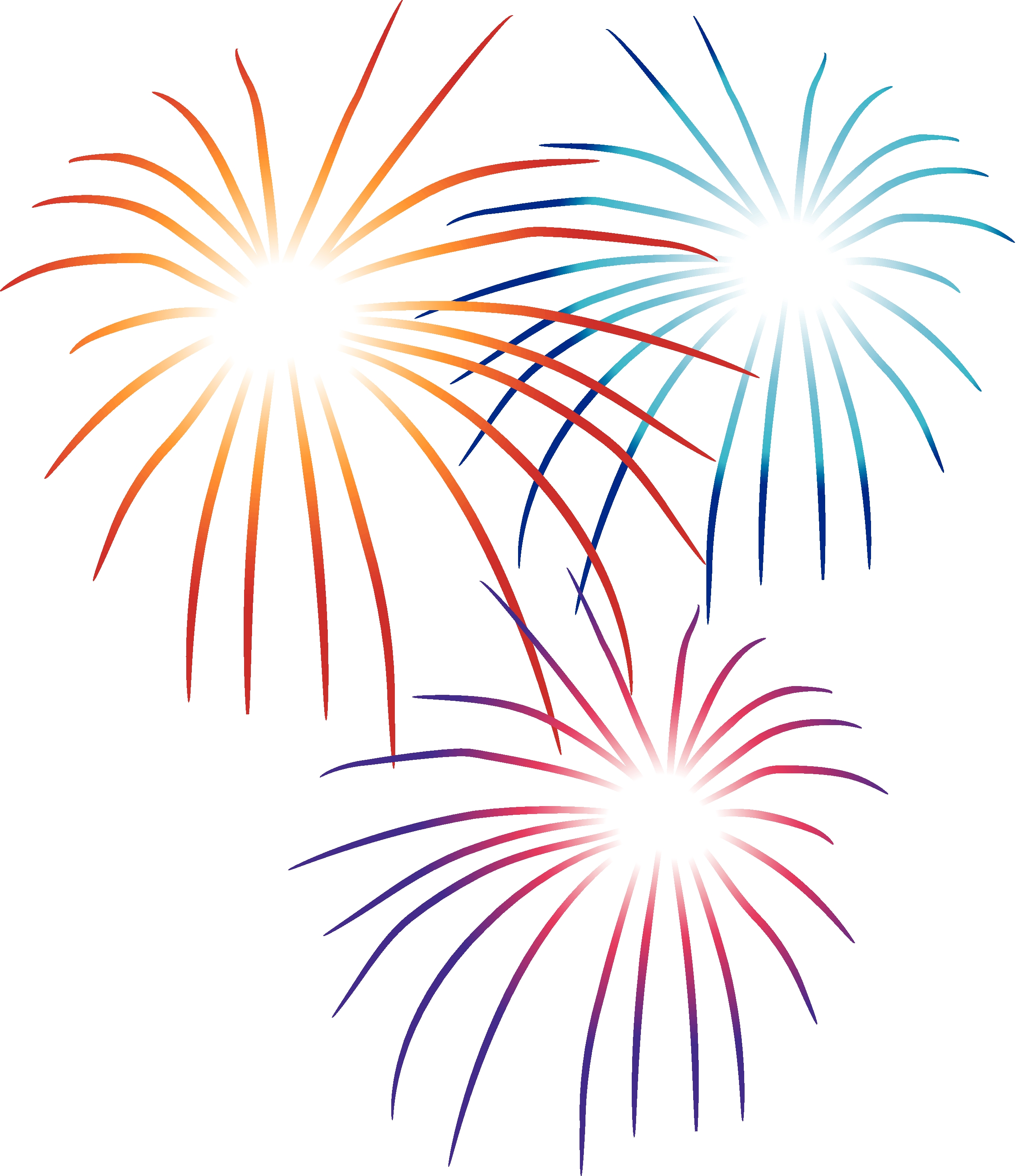 Fireworks clipart vector library stock