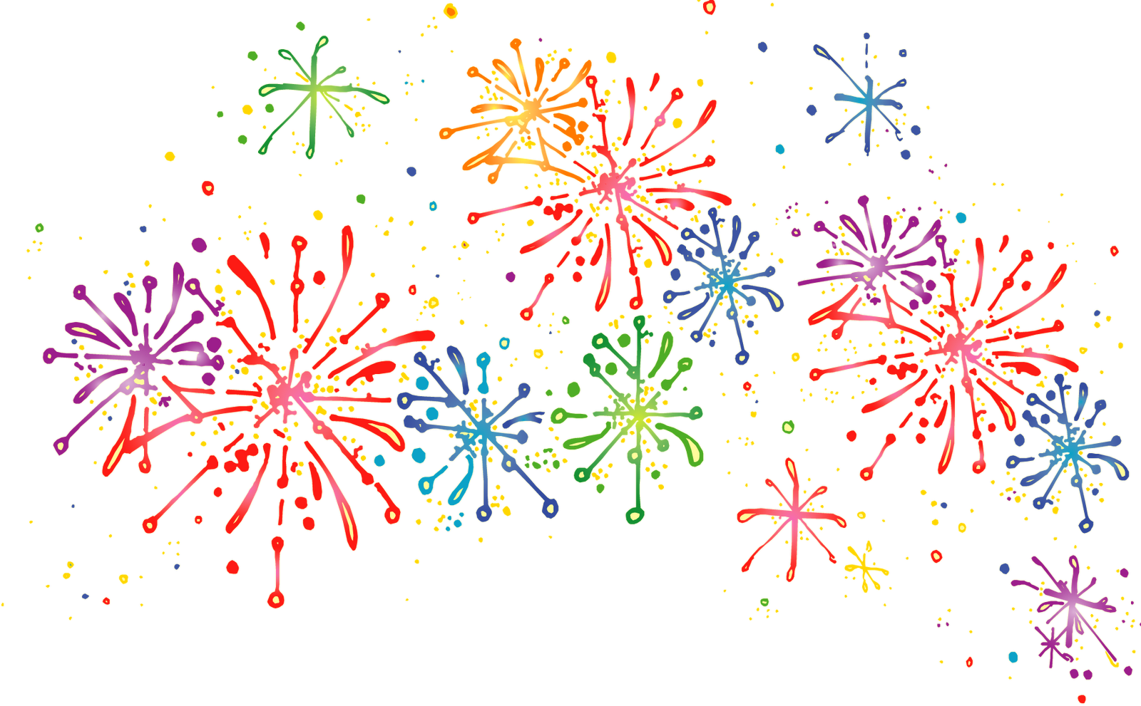 Fireworks clip confetti. Png image without background