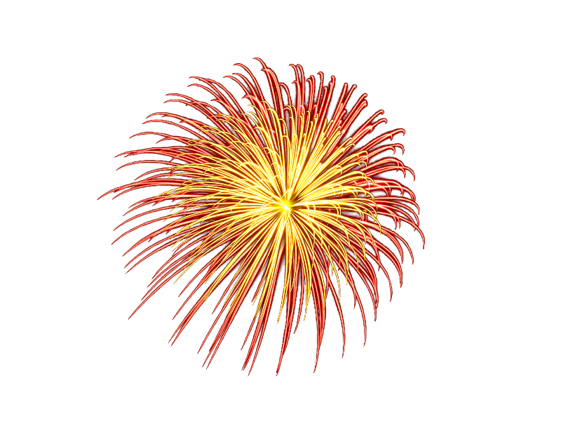 Fireworks png transparent background. With isolated objects