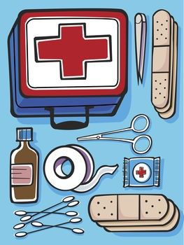 first aid kit clipart components