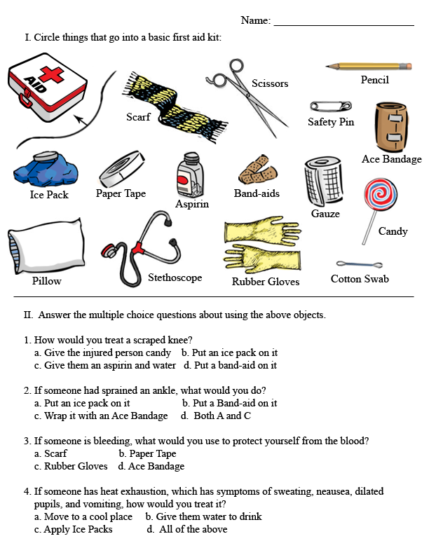 First aid kit clipart first responder. Basic worksheets worksheet photo