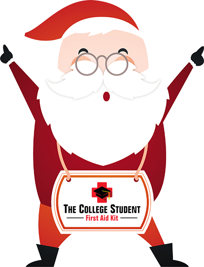 First aid kit clipart student. Santa college png gifts