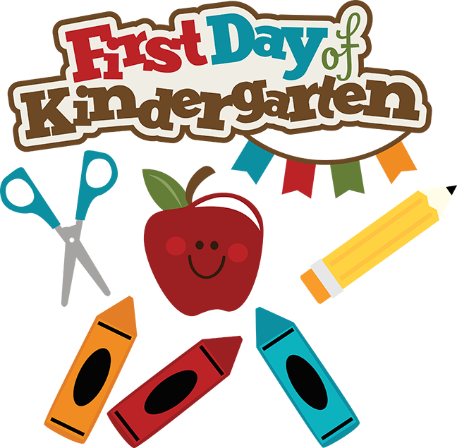 First day of school png. Kindergarten svg files crayon