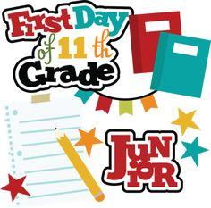 First grade clipart 7th grade. Day of th svg