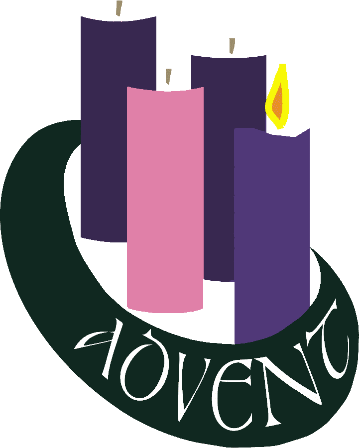 Transparent candles 1st. Advent wishes clipart