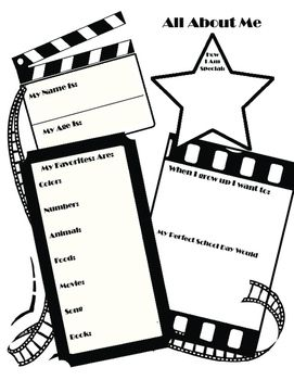 First sunday of clipart bulletin. All about me poster