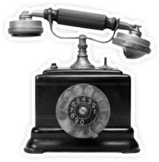 First telephone png. The story an old
