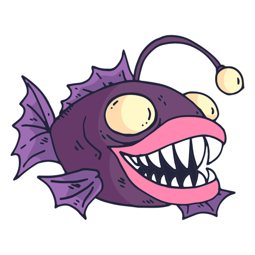 Fish cartoon png. Purple transparent svg vector
