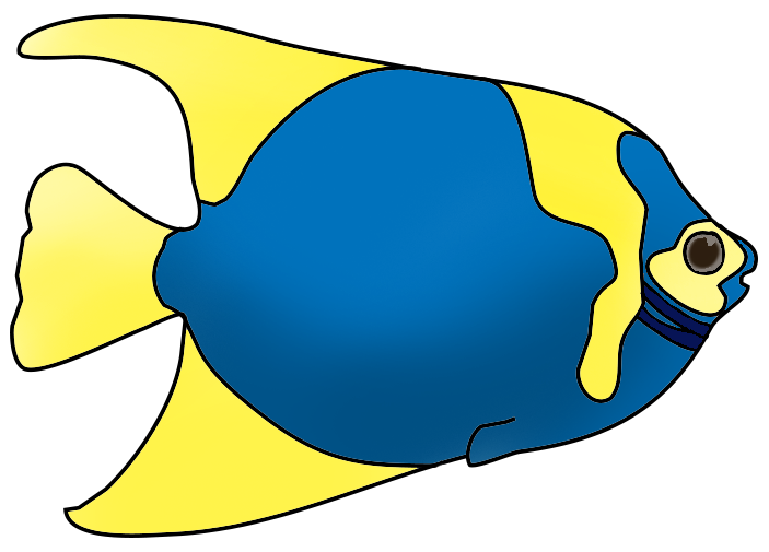 Crown clipart fish. Blue yellow png clownfish
