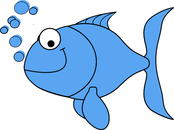 Fish clip art. Light blue at clker