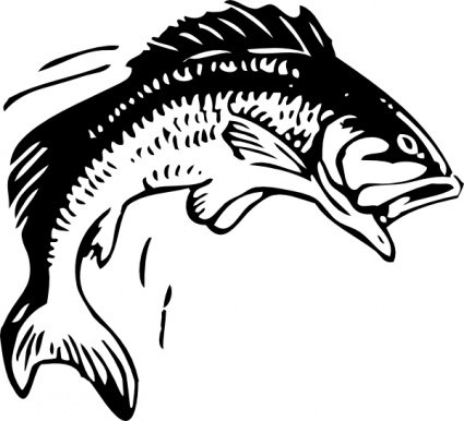 Fish clip art black and white. Free koi clipart vector