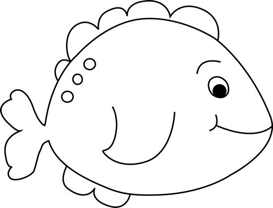 Fish clip art black and white. Little image outline