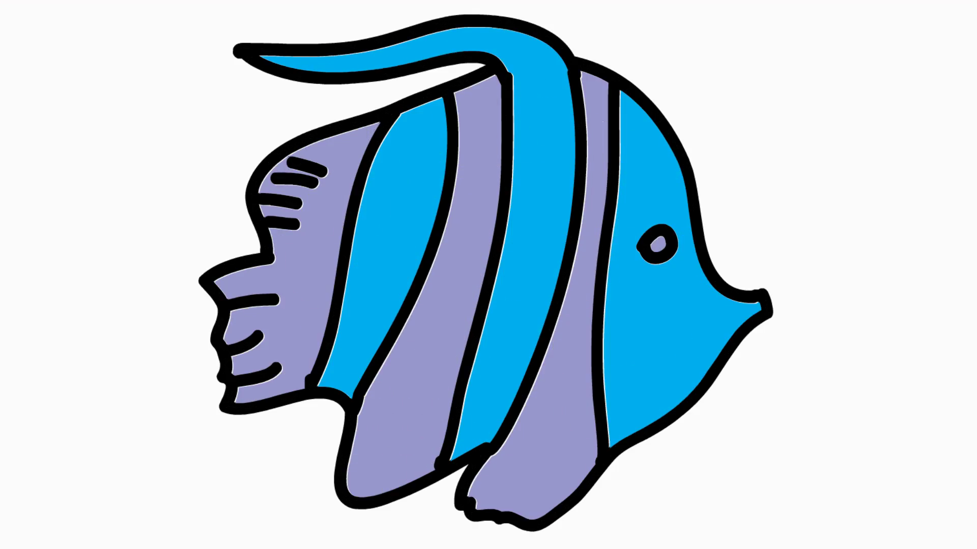Fish clip art clear background. Animation with transparent motion