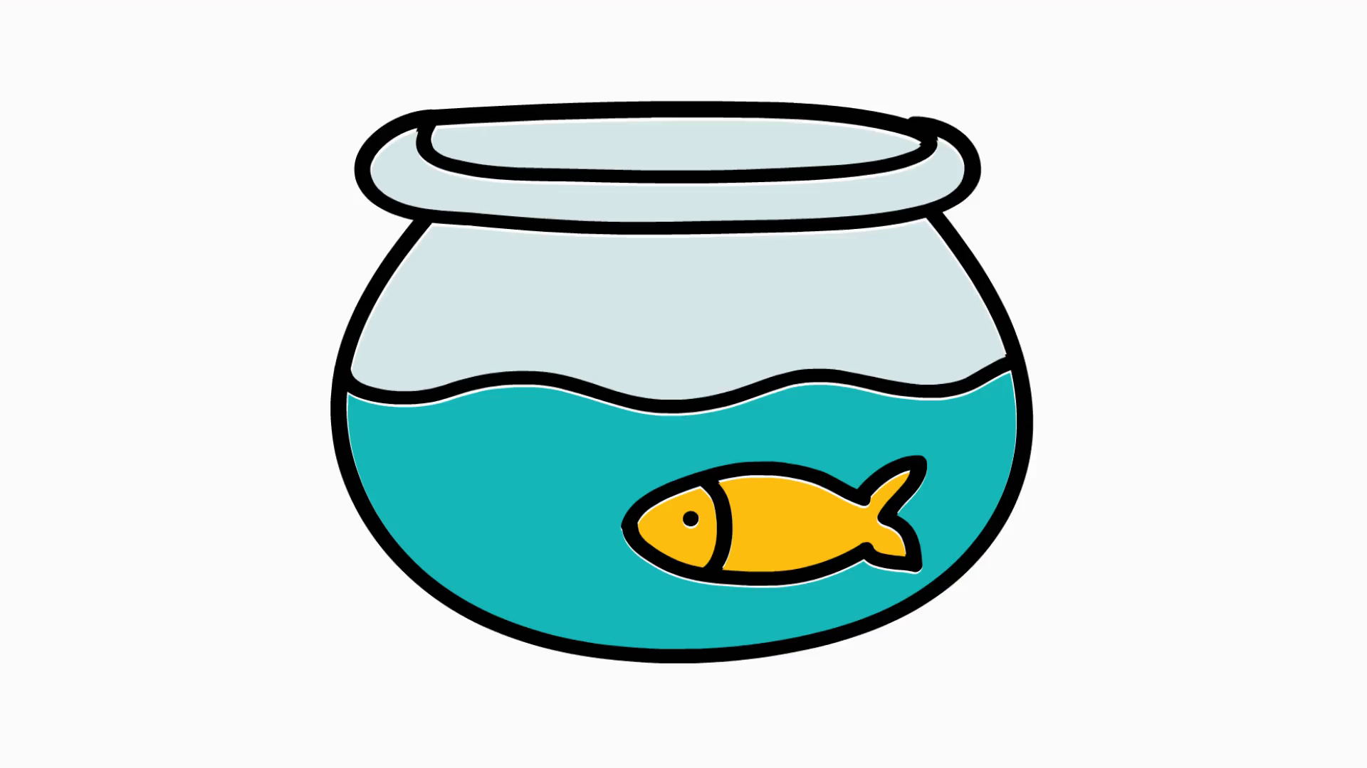 Fish clip art clear background. Bowl hand drawn icon