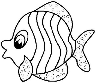 Fish clip art coloring page. Shining design pages best