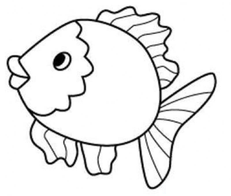 Fish clip art coloring page. Globalpath co now pictures