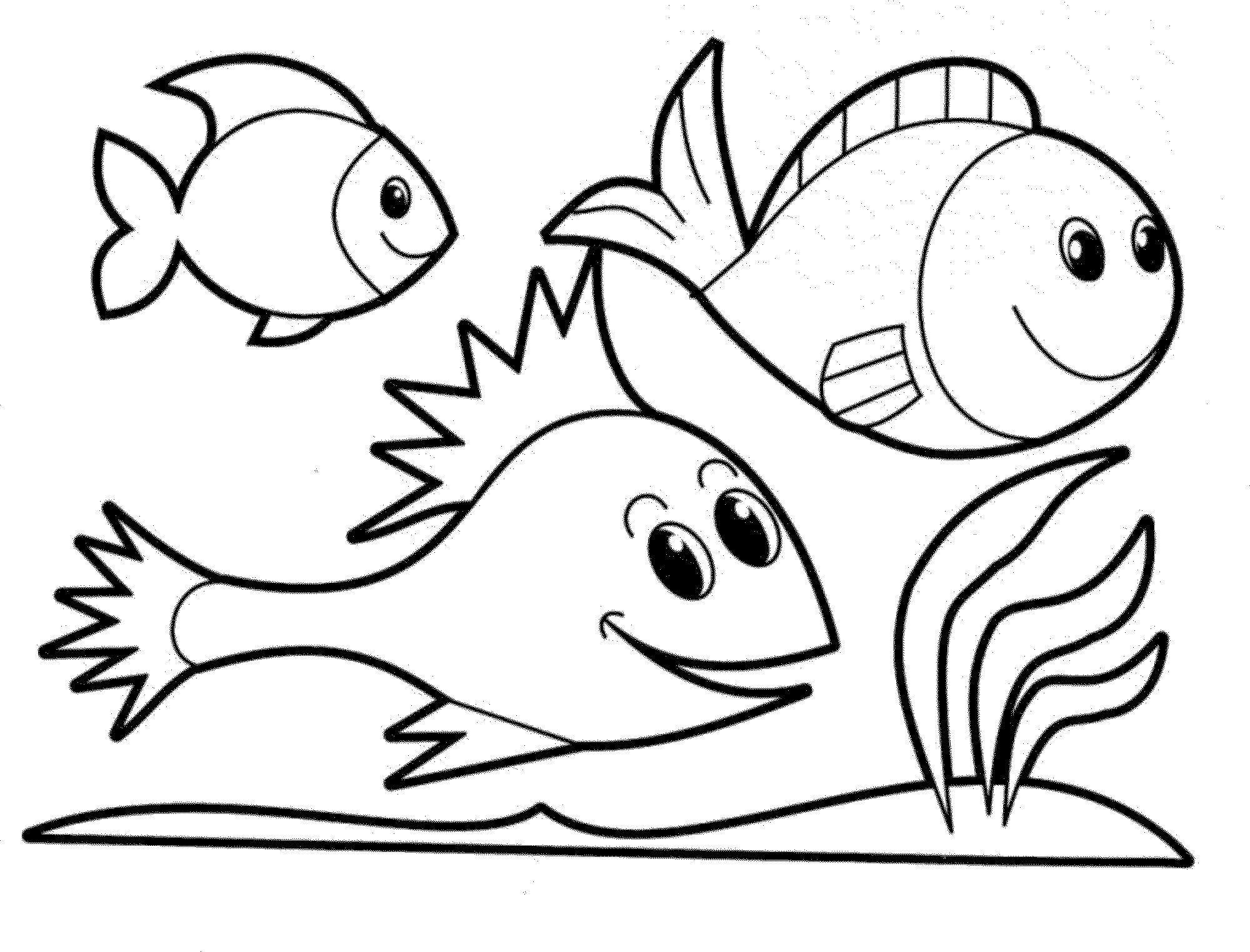 Pages frabbi me . Fish clip art coloring page clip art library