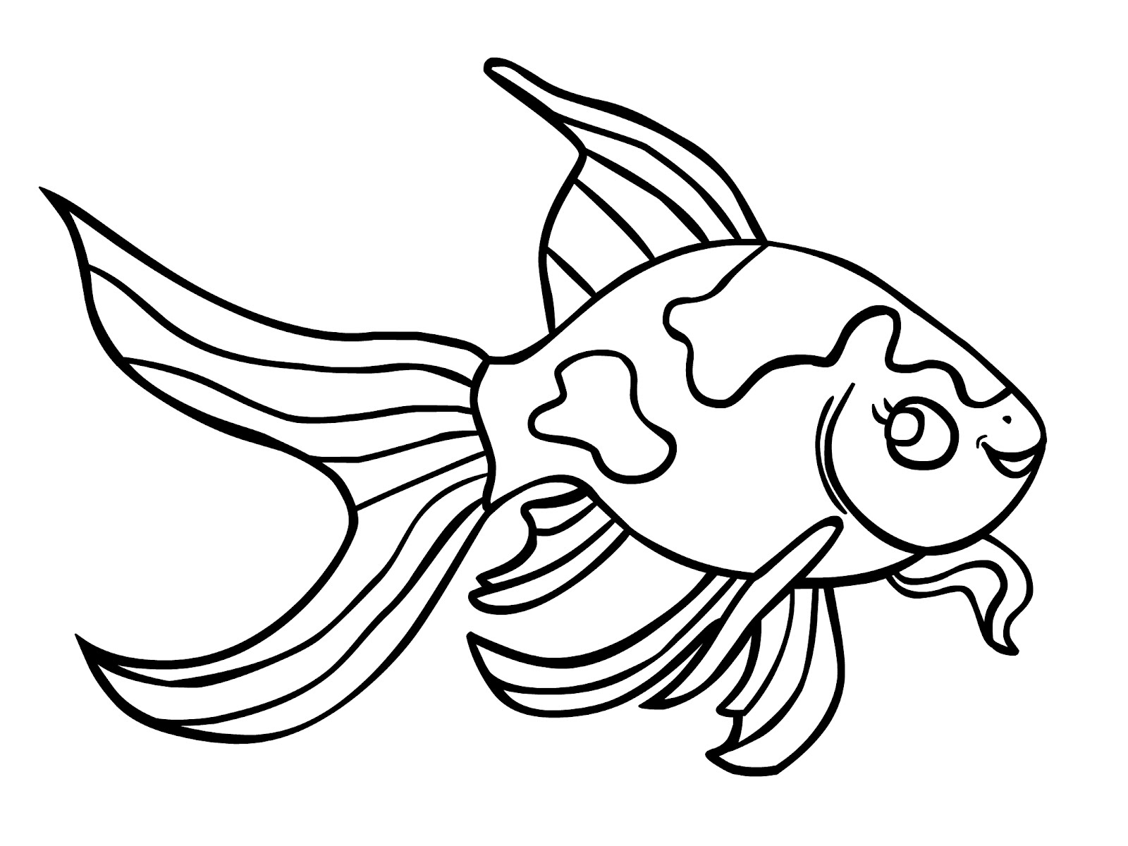 Inspiration cute fishies free. Fish clip art coloring page image black and white