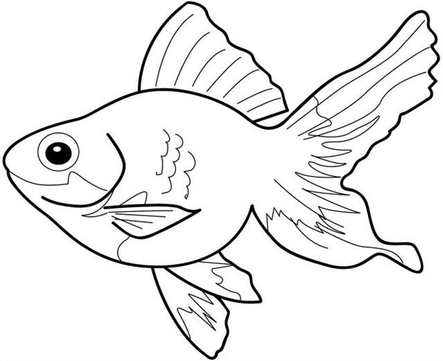 Fish clip art coloring page. Pages kids christmas reindeer