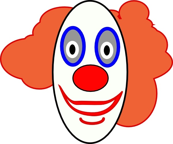 Fish clip art creepy. Clown face drawing at