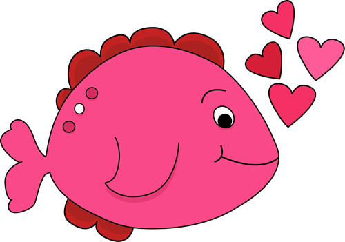 Valentine s day image. Fish clip art cute png royalty free stock