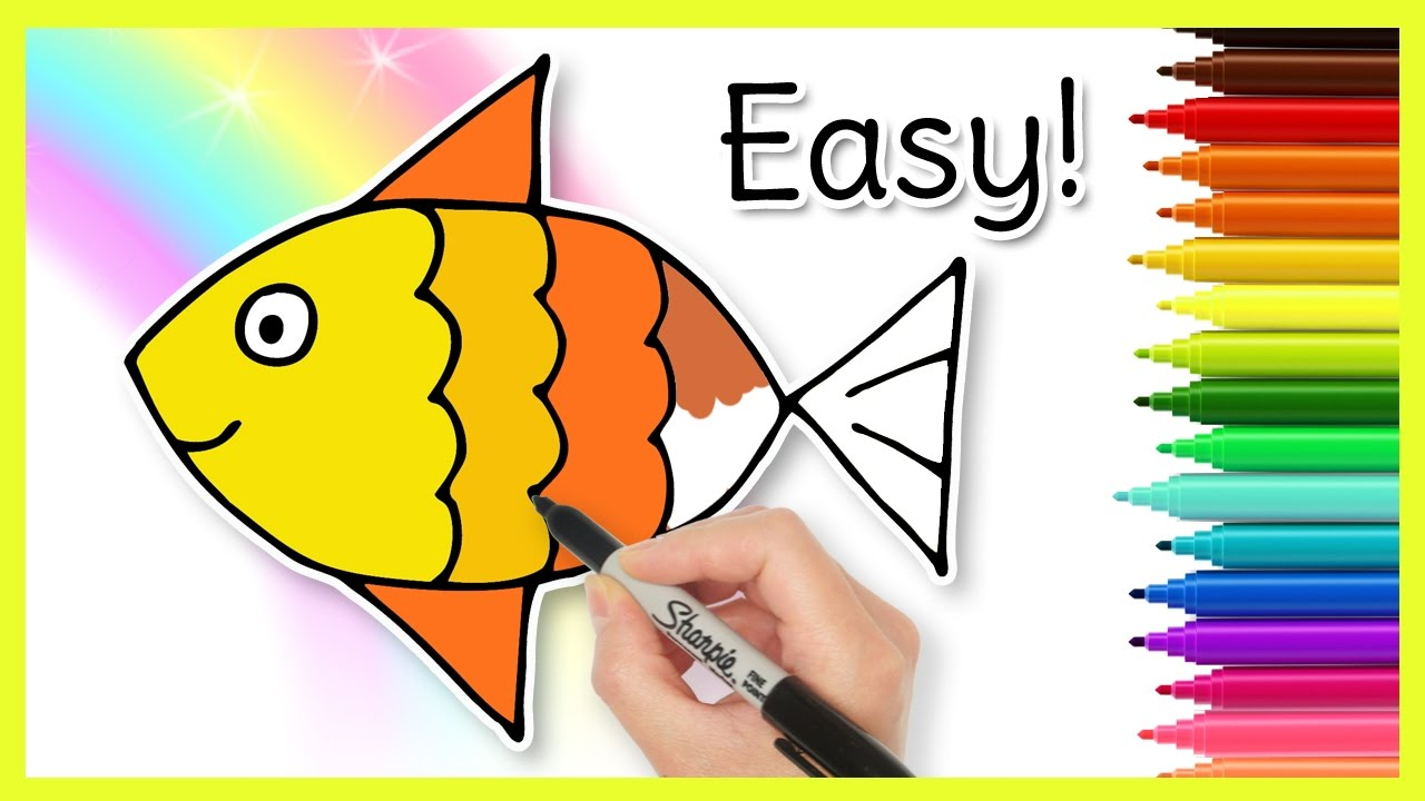 Fish clip art easy. How to draw a