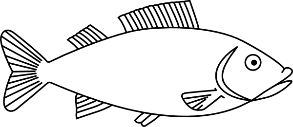 Fish clip art easy. Long drawings outline h