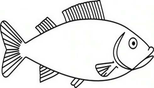 Fish clip art easy. Gigantic outline drawing free