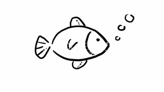 Fish clip art easy. Simple drawing pencil