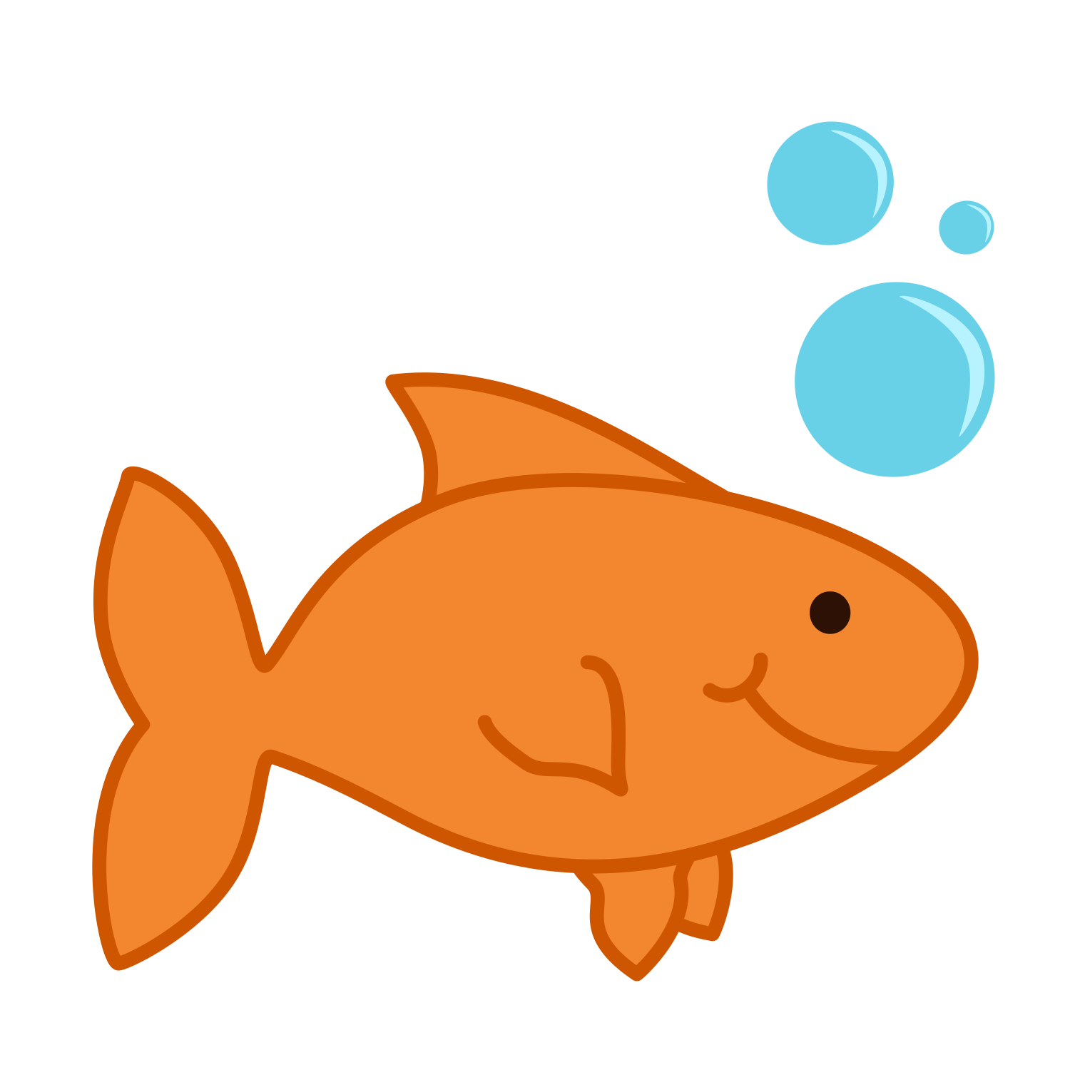 Golden fish. Free goldfish cliparts download