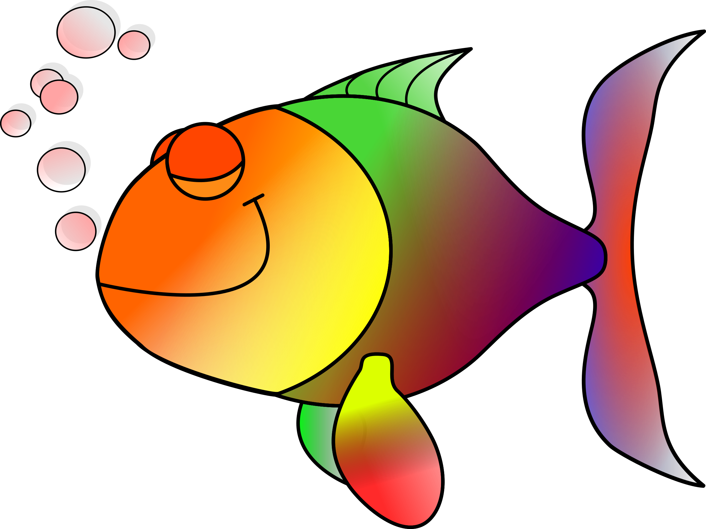 Happy fish happily asleep Icons PNG