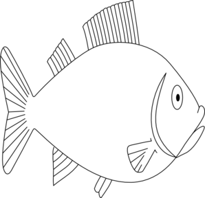 Black and white biome. Fish clip art public domain png library