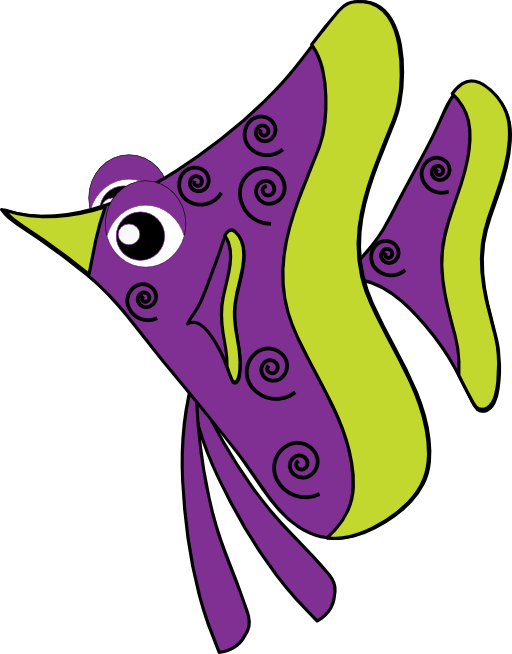 Fish clip art public domain. Purple clipart royalty free