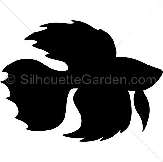 Fish clip art silhouette. Betta