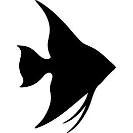 Fish clip art silhouette. Silhouettes angelfish