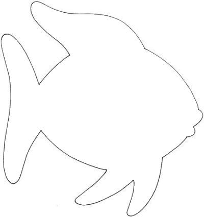 Outlines b template on. Fish clip art simple jpg free download