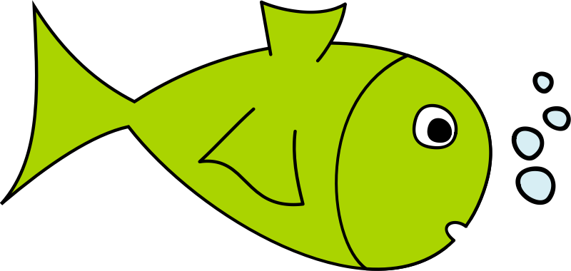 Free cartoon . Fish clip art simple vector black and white stock