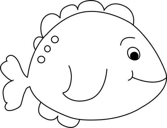 Fish clip art simple. Clipart black and white