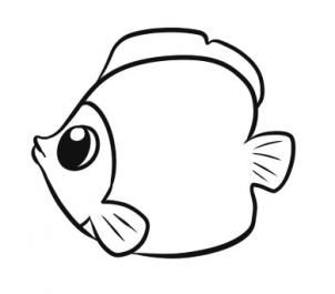 Fish clip art simple. How to draw a