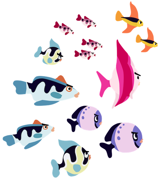 Fish clip art transparent background. School of png image