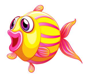 Fish clip art watercolor. Cartoon clay clipart