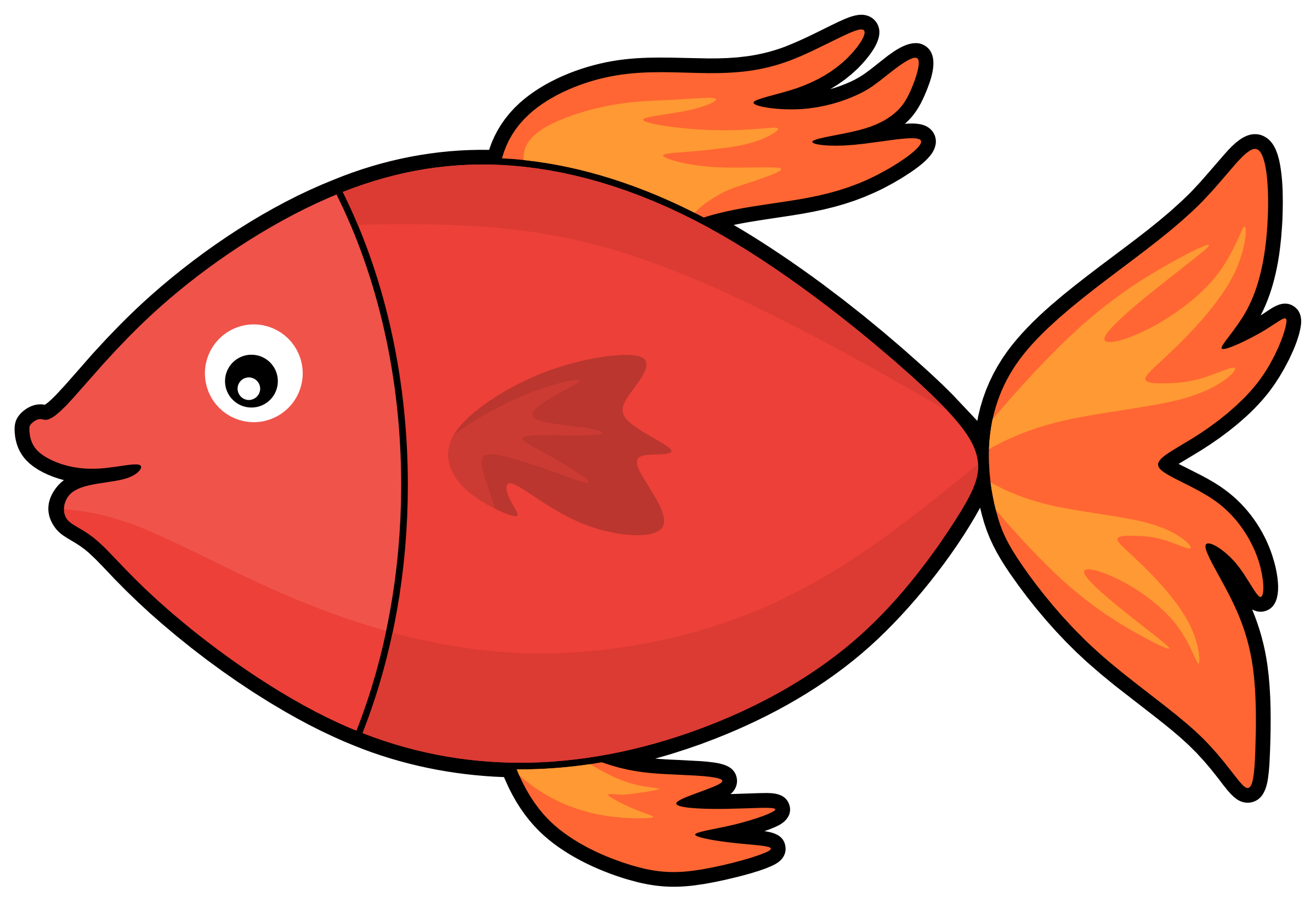 Fish clipart. Butterfly at getdrawings com