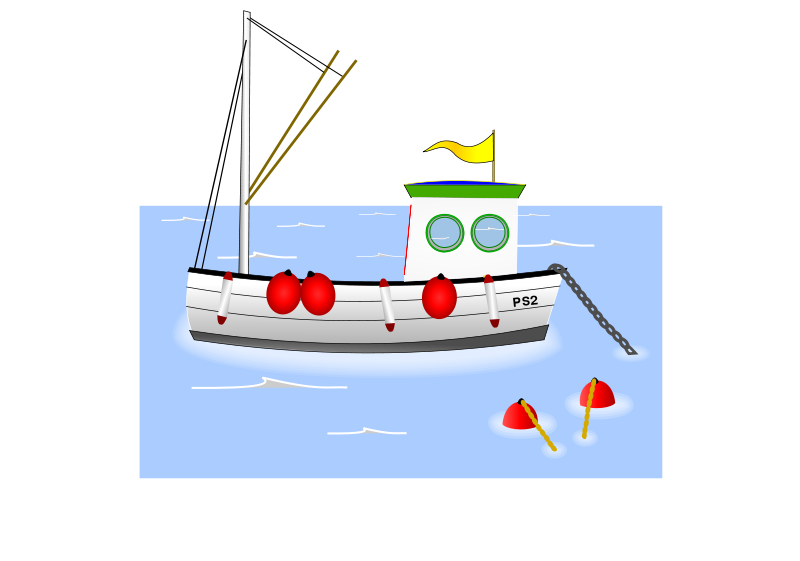 Sailboat clipart water transportation. Free cartoon fishing boat