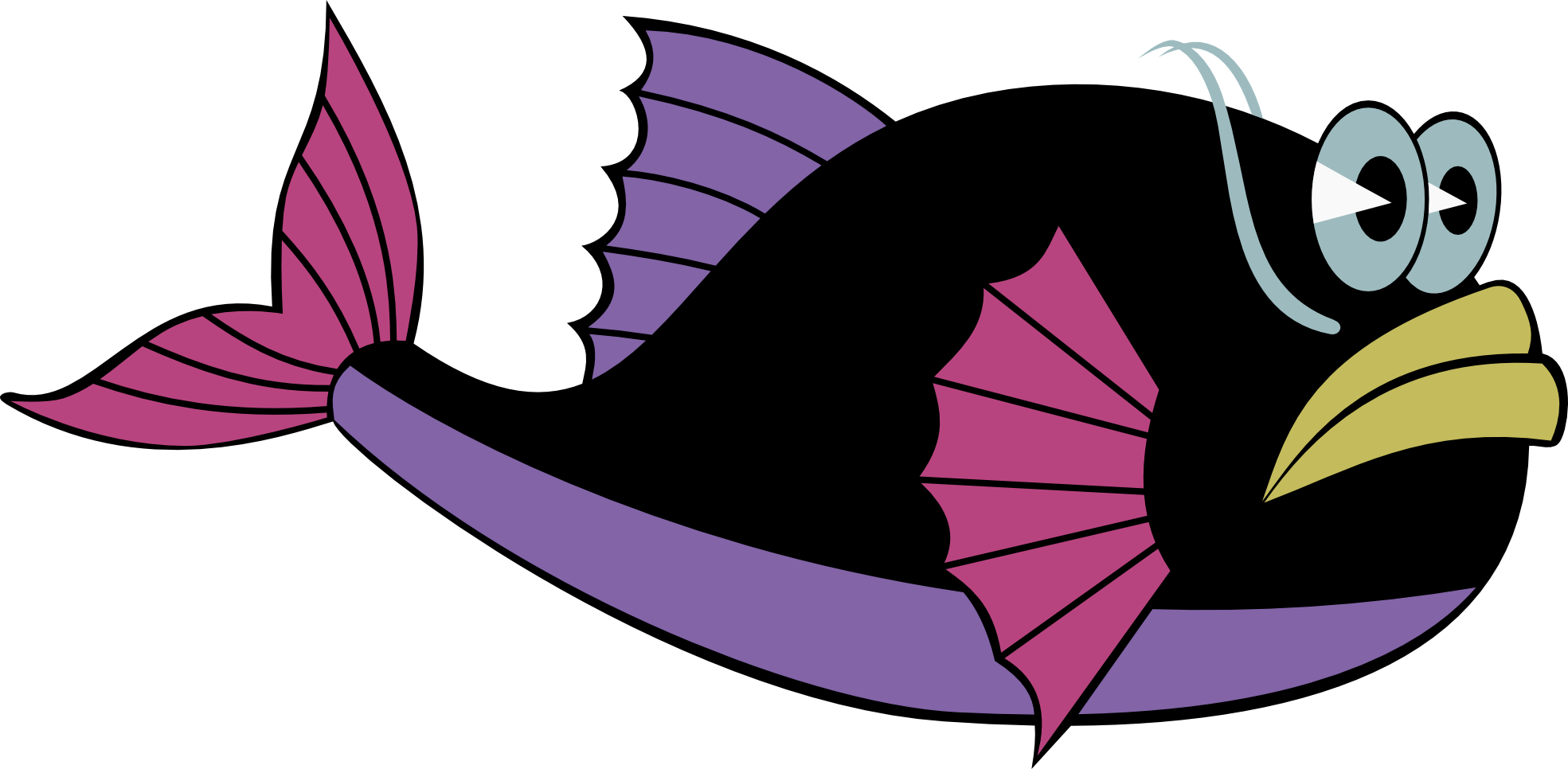 Fish clipart character. Of library clip art
