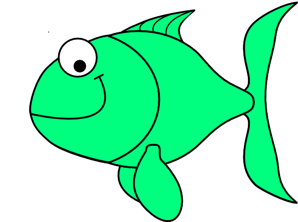 Fish clipart green.