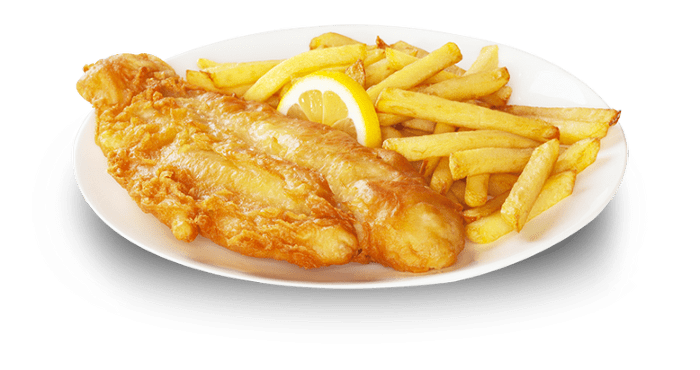 Chips transparent fried. Traditional fish and png