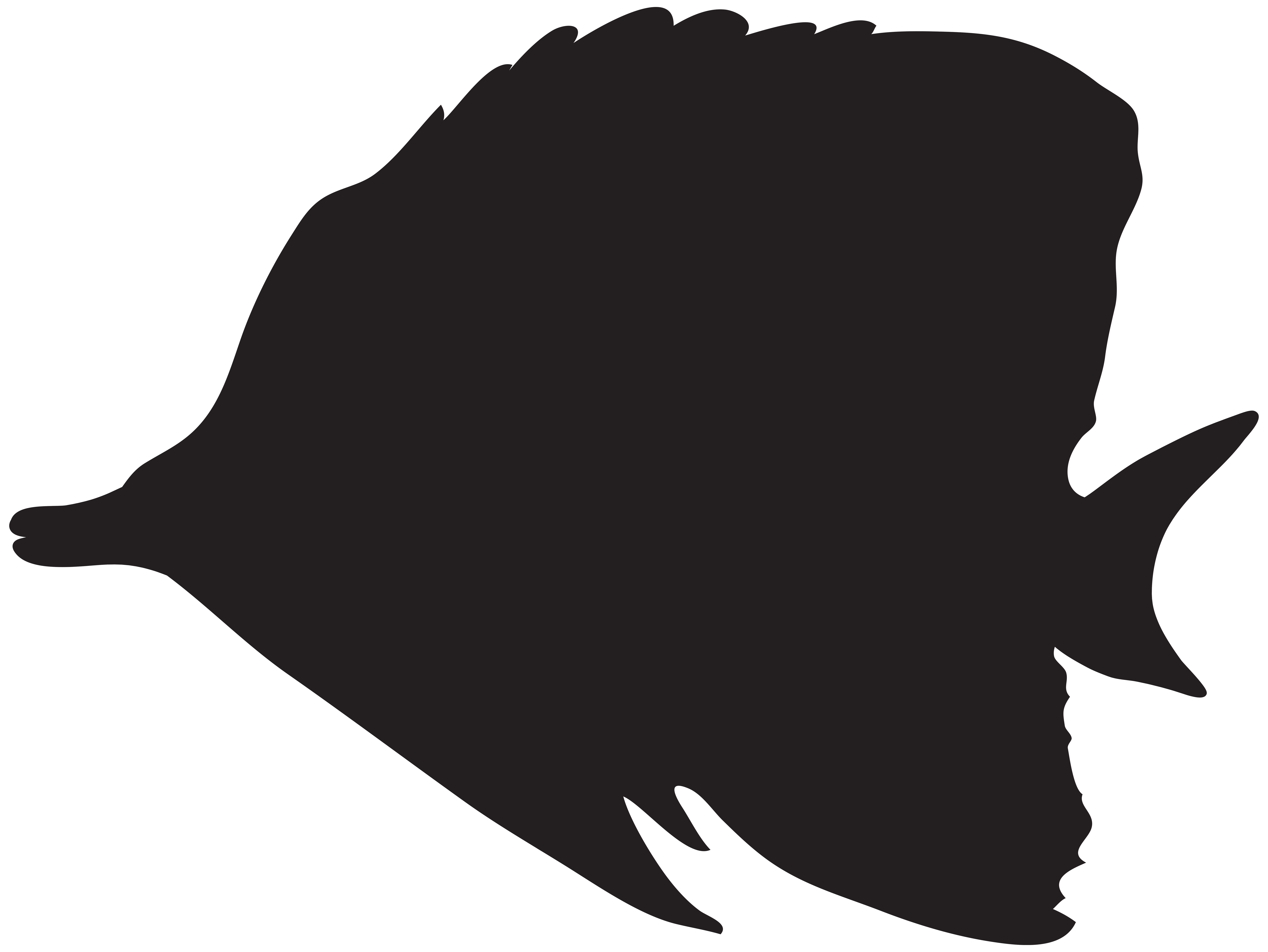 Fishing clip silhouette. Fish png art image