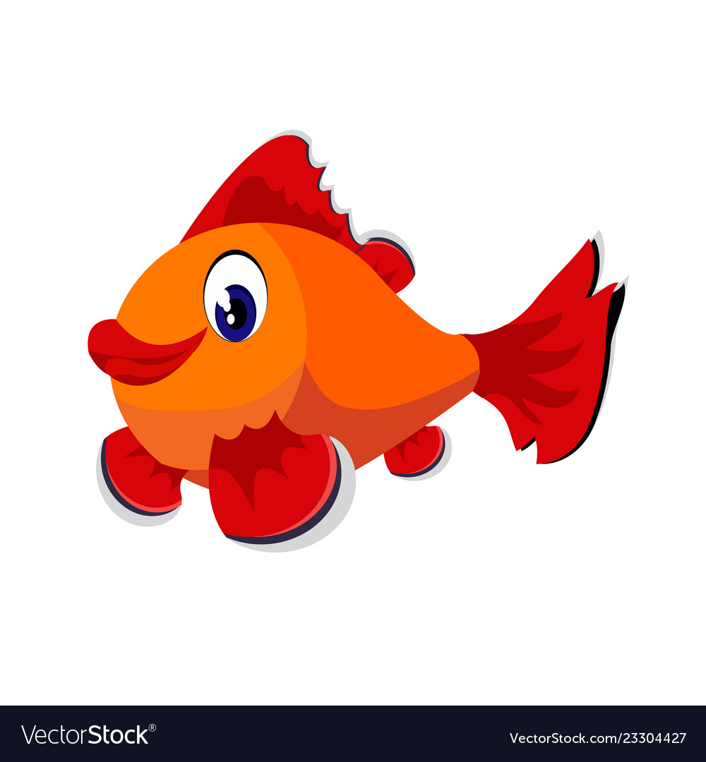 Fish tail. Cartoon or clipart isolated